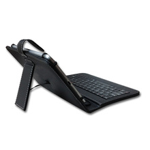 Micro USB Keyboard Case Cover For 7 8 inch Tablet PC PU Leather with stand holder(China)