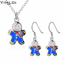 Christmas theme Christmas tree Necklace eardrop set auger 2 suit accessories wholesaler 923(China)