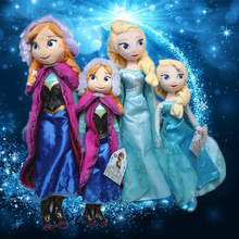 Disney Toys 40cm 50cm Stuffed Plush Dolls Toys Princess Frozen Elsa&Anna Doll For Girl Birthday Gifts Juguetes(China)