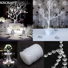 KSCRAFT 99 FT Garland Diamond Strand Acrylic Crystal Bead Wedding Decoration Romantic Wedding Party Deco 2 colors