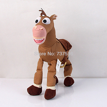 New Toy Story 3 Woody Horse Bullseye 17 inches Plush Embroidery Stuffed Animals Toy Dolls Kids Christmas Gifts US ship(China)