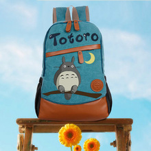 Anime Tonari no Totoro Cosplay Hand-painted male and female Korean tide student bag diy personalized backpack(China)