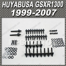 Black For Suzuki Fairing Bolts Kit Aluminum For SUZUKI Hayabusa GSXR 1300 Motorcycle Fairing Aluminum Spike Huyabusa GSXR1300