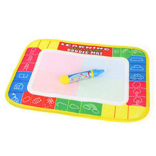 Hot! Fun Kids Baby Add Water Write Draw Paint Water Drawing Canvas Magic Doodle Mat With Magic Pen Brushes Gift Christmas New