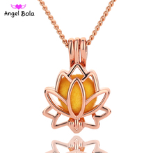 Angel Bola Jewelry Yoga Aromatherapy Essential Oils Surgical Perfume Diffuser Locket Necklace Drop Shipping L154