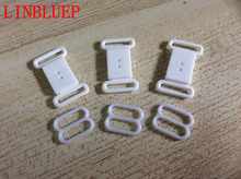 White  Bikini Clips Hook & Snap Clasps Strap Bra Fastener Swimwear Bow Tie Buckle Bow Tie Hooks 1.3cm Dropshipping