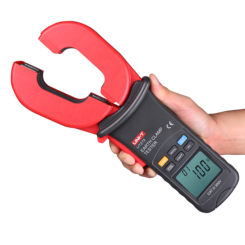 UNI-T UT275 Professional Auto Range Clamp Earth Ground Resistance Testers 0.01-1000ohm w 0~30A Leakage Current Tester UT2755