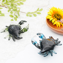 New cute crystal glass crab arts crafts Coloured glaze Marine family Figurines animal Miniatures fish tank furnishing home Decor