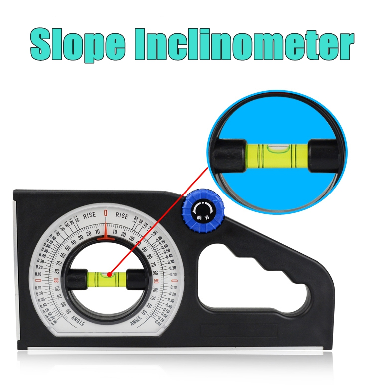 Slope Gradient Inclinometer Angle Universal Measuring Ruler Level Tool 0.01 °