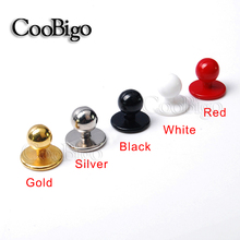 10pcs Pack 11.5mm Plastic Buttons Restaurant Uniforms Chef Jacket Uniform Suit Buttons #FLQ089-B/W/G/S/Red(China)