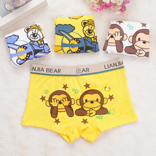 boy underwear boy boxer child's for underpants shorts  pants for boys children's boxer kids panties  A3051-4p 4pcs/lot
