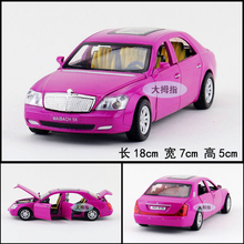 Gift for baby 1pc 1:32 18cm delicate Maybach car cool vehicle acousto-optic alloy pull back model children boy toy(China)