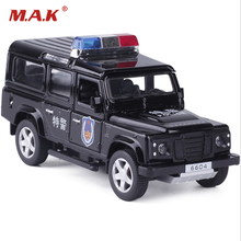 1:32 Alloy Diecast Car Model 1/32 Jeep Defender police car Special police Car Models W sound & light Xmas Kids Gift Collection(China)