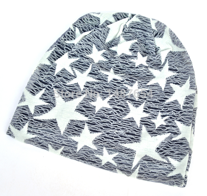 0111914a1c1 Free shipping Fashion Autumn winter hats for women Beanies The lace pattern  of stars Turban Cap Skullies Stacked cap For Women