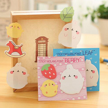 20 sets/lot Cute Sticker Bookmark Tab Flags Memo Book Marker Sticky Notes School Office Paper Stationery Papelaria(China)