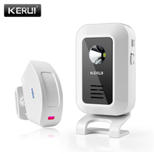 KERUI 433MHz Wireless Curtain PIR Motion KR-M7 Wireless Strobe Light Welcome Chime Door Bell Motion Sensor Burglar Alarm System(China)