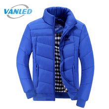 2017 Brand Clothing High Quality Winter Jacket Men Warm Thick Quilted Jackets Zipper Up Parkas Men Coat Plus Size M-3XL(China)