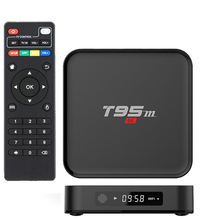 T95M Smart TV Box Amlogic S905X 1GB+8GB 2GB+8GB Android 6.0 Quad Core 2.4G WiFi HD Media Player With Russian English Keyboard(China)