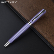 1pc/lot MONTE MOUNT Pen Roller Ball Pen Purple Pen Silver Clip Metal High Quality Office Supplies(China)