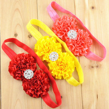 10 pcs/lot , Double Satin Flower Headband Holiday Dressy Hair Bow Accessories