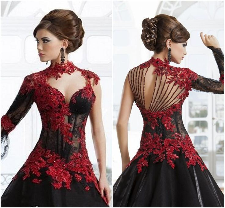 High Quality Red and Black Quinceanera Dress-Buy Cheap Red and ...