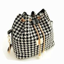 Buy Fashion Style Women Houndstooth Shoulder Bag Crossbody Bag Satchel Handbag women messenger bags evening bags dollar price bolsos for $9.14 in AliExpress store