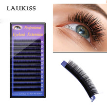 12 Lines/Tray 8-13mm Lashes LAUKISS Professional Cilios Kit Silk Ultra Soft Volume Natural Look False Eyelashes Extension Salon