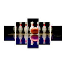 HD Printed 5 Piece Canvas Art Bowling Ball Painting Wall Pictures For Living Room Sports Poster(China)