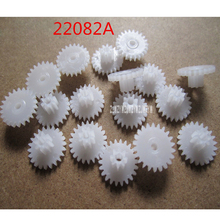 22082A Modulus 0.5M POM Plastic Gear Double Layers Gear Wheels Reducing Gear 2mm Shaft 12mm Diameter Gears (10000pcs/pack)(China)