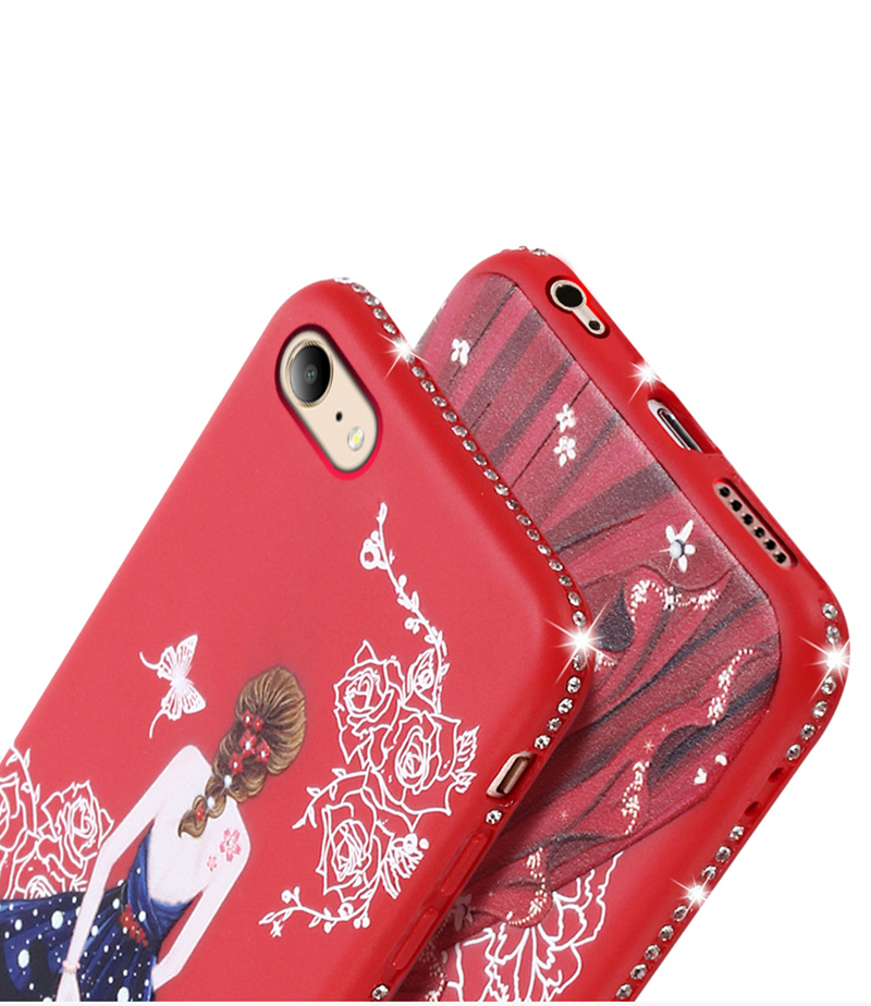 dress girl silicone case iphone 6 s 7 8 plus (6)