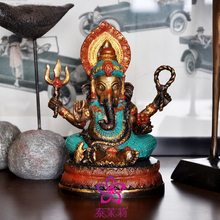 Tibetan Buddhism, Tantra, Ganesha, Geneisha, Elephant Headed God, Statue, Buddha Figure God Of Victory