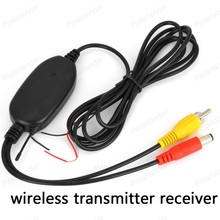 Hot sale! Best Quality 2.4G Wireless RCA Video Transmitter Receiver Kit for Car DVD Monitor Rear View Camera Reverse Backup