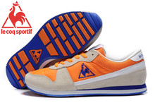 Free Shipping New Styles Le Coq Sportif Men's Running Shoes Sneakers Beige/Orange/Blue Cololr 6