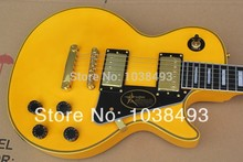 Vicers  Make best LP Custom electric  guitar ebony fingerboard products for wire deep yellow color crestor EMS