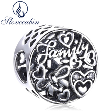 Slovecabin 925 Sterling Silver Family Tribute Beads For Jewelry Making Fit Original Charms Pandora Bracelets Diy Silver 925 Bead(China)