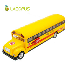 Lagopus High Simulation Rc Car Alloy Car Styling Led Car Sound&light Alloy School Bus Open Door Model Classic Toy Mini Gift(China)