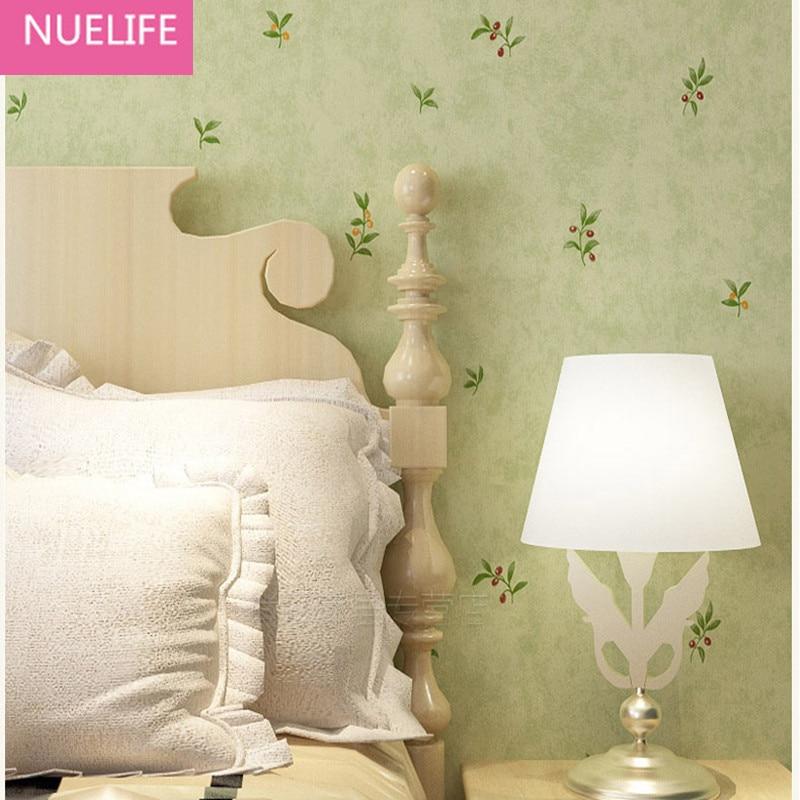 0.53x10 Meter Light Green Floral Pattern Non-woven Wallpaper Kids Room Living Room Wedding Room Bedroom Wallpaper<br>