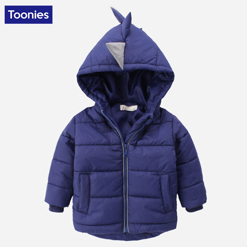 2017 New Winter Jackets For Boys Outerwear Warm Hooded Thick Dwon Coat Childrens Parkas Jackets Long Sleeve Dinosaur Kids CoatОдежда и ак�е��уары<br><br><br>Aliexpress