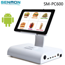 "10""Inch Free SDK Wifi,Bluetooth POS Terminal System software touch screen Android cash register with 58/80mm Ticket Printer"