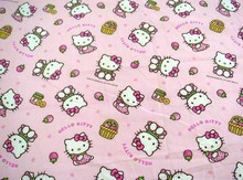 50*152cm Hello Kitty kt cat Cotton Fabric for Sewing Patchwork Bedding Fabric DIY Baby Cloth Textiles(China)