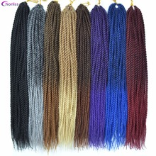 "Chorliss 18"" Synthetic Hair Extensions Senegalese Twist Braids Hair Crochet Braids Ombre Braiding Hair BlondeT613 30strands/pack(China)"