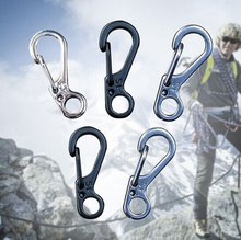 3Pcs Spring Buckle Snap Alloy Nickel-free Plating Mini Key Ring Carabiner Bottle Hook Paracord Camping Accessories