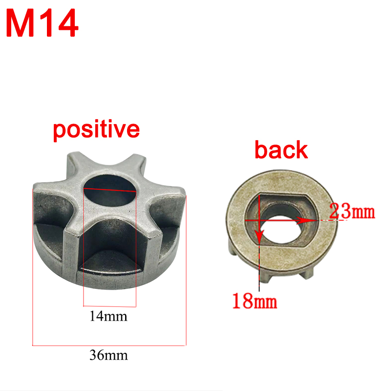 1X M14 Chainsaw Gear Wheel Gear For 125 Angle Grinder Chainsaw Top Replace 2019