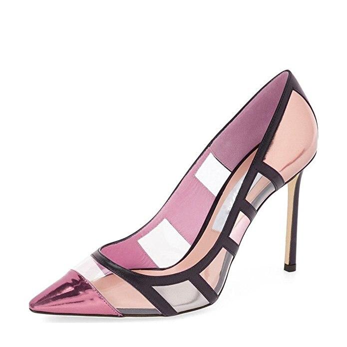 New Fashion Women Pumps 2017 Pointed Toe Stiletto Heels Pumps Nice Blue Green Lemon Pink Shoes Woman Plus US Size 4-15 <br><br>Aliexpress