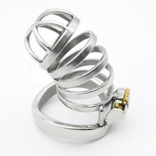 Buy New Stainless Steel Stealth Lock Male Chastity Device,Penis Rings Cock Cage,Virginity Belt,Adult Game Sex Products Man