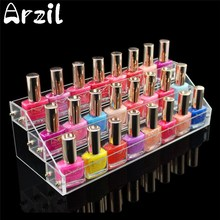 Makeup Cosmetic 3 Tiers Clear Acrylic Organizer Lipstick Jewelry Display Stand Holder Nail Polish Rack Home Storage