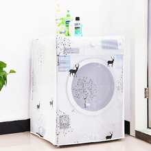 Tnsparent Waterproof Cover Washing Machine Family Expenses Automatic Turbine Roller Anti-dust Cover Washing Machine Set(China)