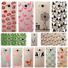 Mickey&Minnie kiss Lips pineapple unicorn Flamingo cactus panda Clear soft silicone cases cover for SAMSUNG Galaxy J7 2016 J710