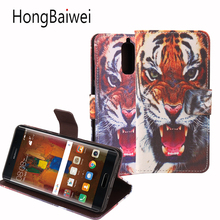 for Huawei Mate 9 Pro Case Leather Flag Tiger Pattern Flip Wallet Phone Bag Case for Huawei Mate 9 Pro Card Holder Case