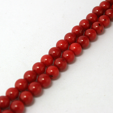 Wholesale 6mm Coral Beads Natural Coral Beads Dyed 15'' Fit For Bracelet&DIY Jewelry BTB031-03